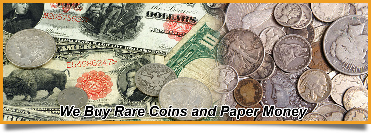 Sell Coins and Paper Money | We buy Rare Coins Bergen County NJ